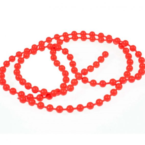bead chain eyes -fluo red