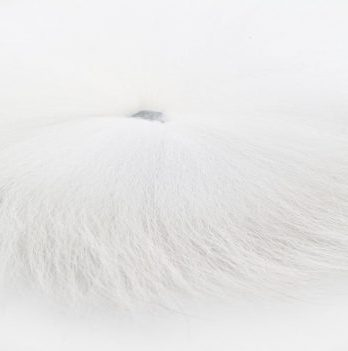grade fox tail -white FB-457502